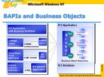 bapis and business objects