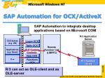 sap automation for ocx activex