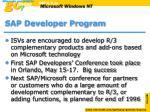 sap developer program