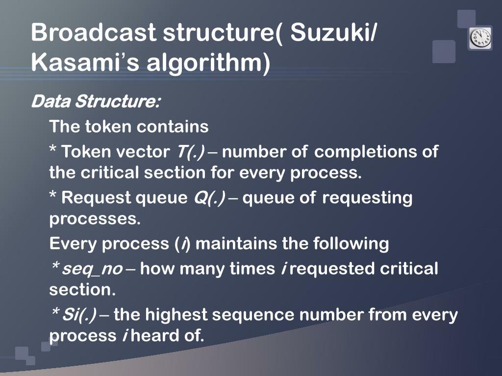 Broadcast structure( Suzuki/ Kasami