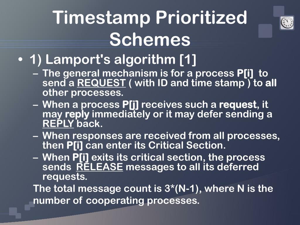 Timestamp Prioritized Schemes