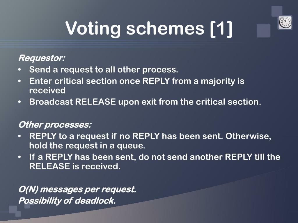 Voting schemes [1]