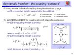 asymptotic freedom the coupling constant