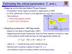 estimating the critical parameters t c and e c