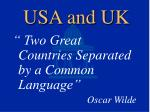 usa and uk