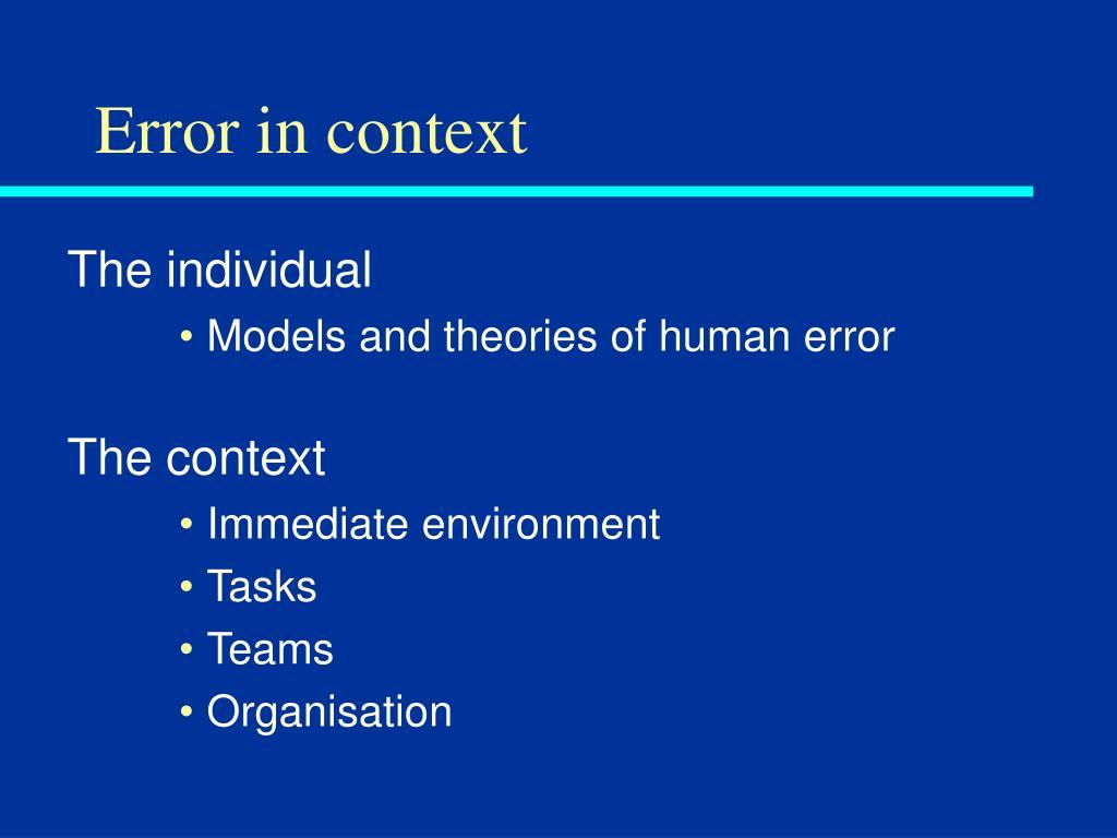 Error in context