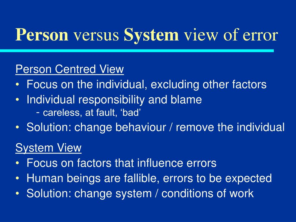 individual psycchology versus systems