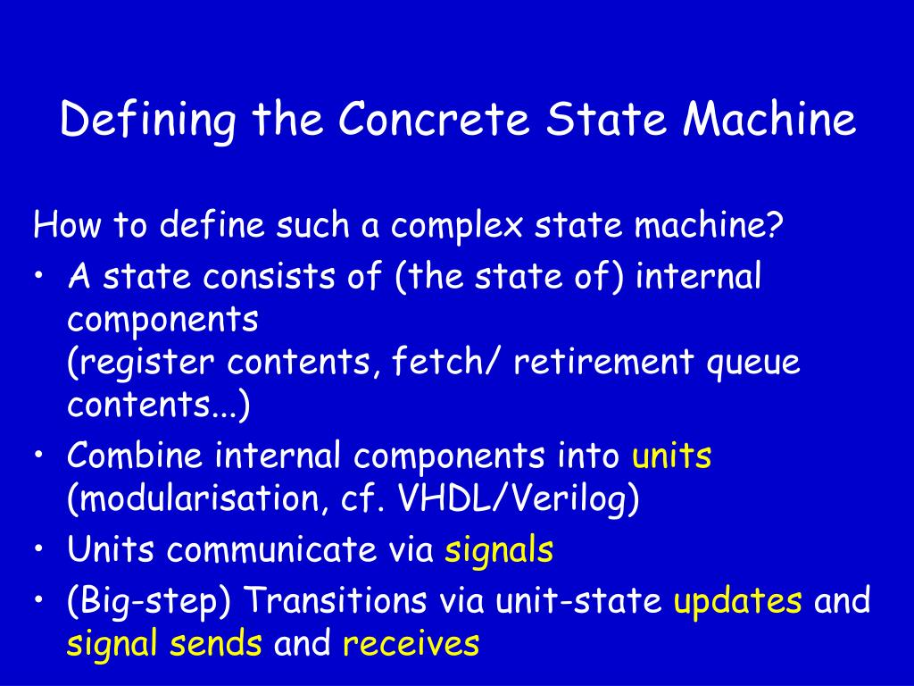 Defining the Concrete State Machine
