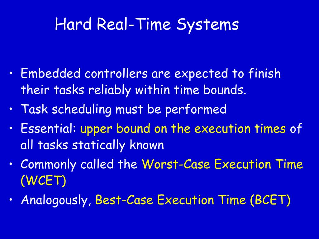 Hard Real-Time Systems