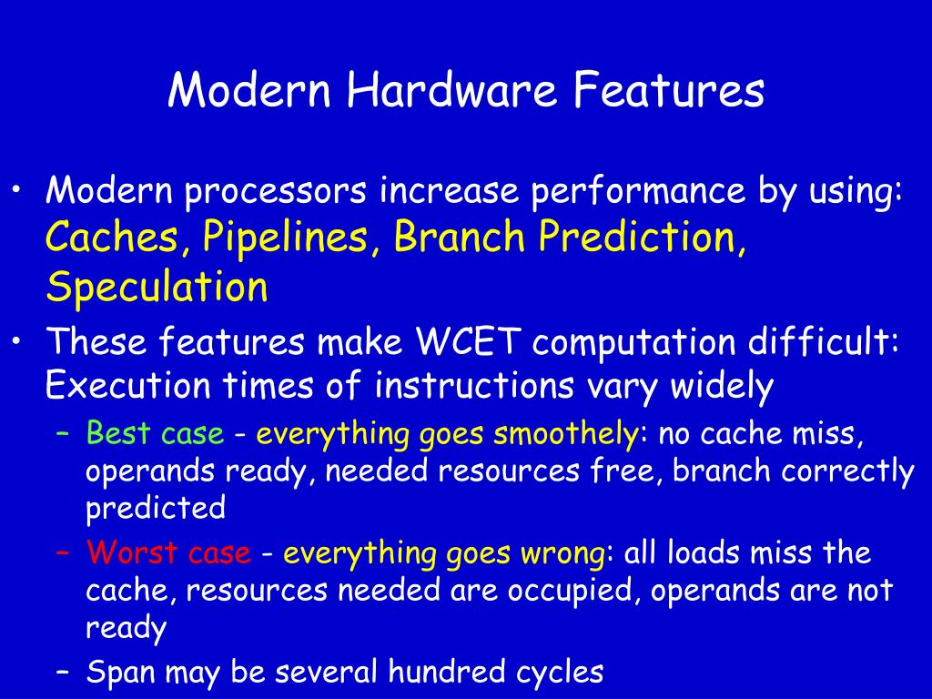 Modern Hardware Features