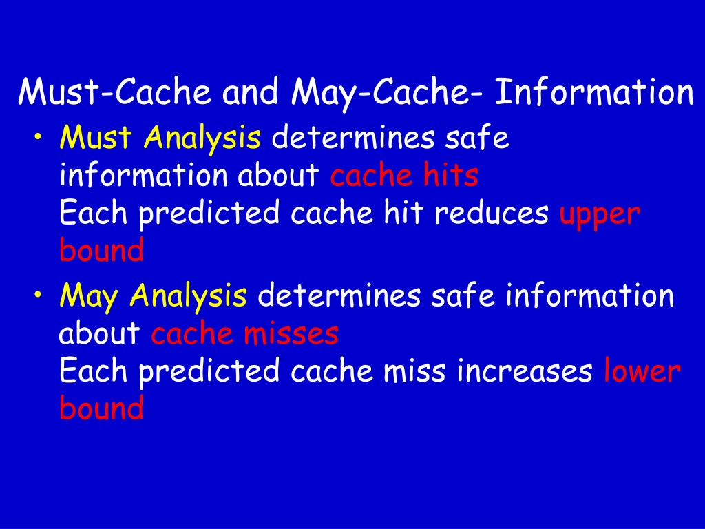 Must-Cache and May-Cache- Information