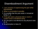 disembodiment argument5