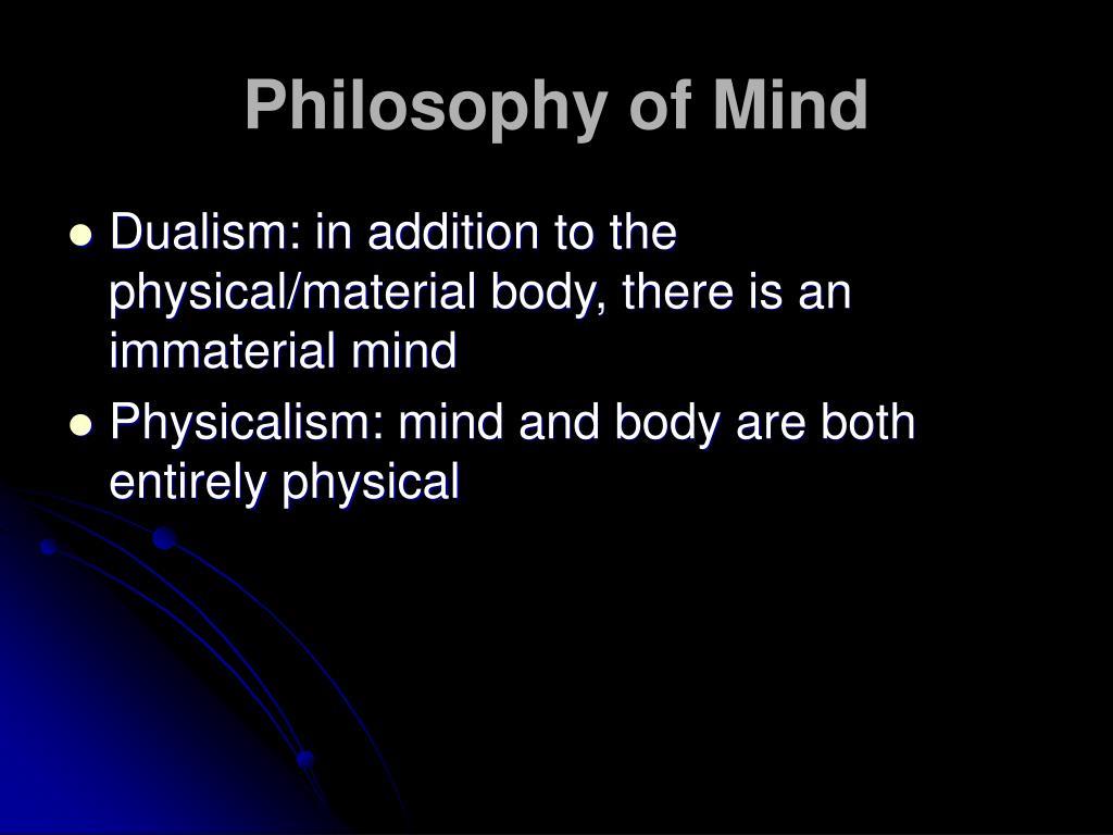 philosophy of mind l.