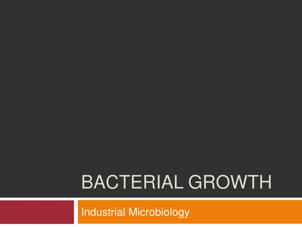 bacterial growth l.