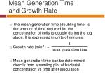 mean generation time and growth rate