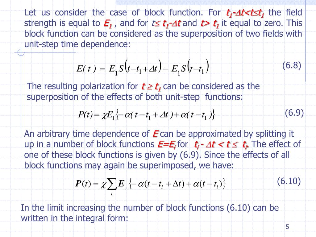 Let us consider the case of block function. For