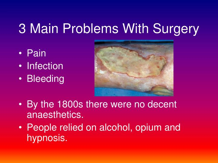 3 main problems with surgery