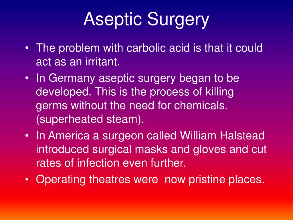 Aseptic Surgery