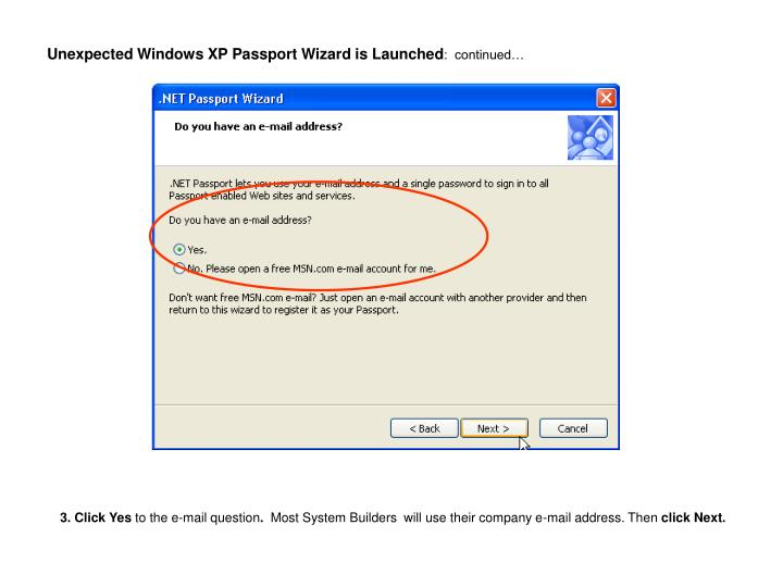 Unexpected windows xp passport wizard is launched continued1