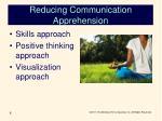 reducing communication apprehension