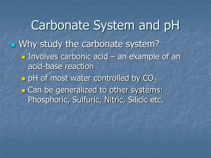 carbonate system and ph n.