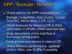 drp backups network