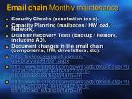 email chain monthly maintenance