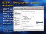exbpa exchange best practice analayzer