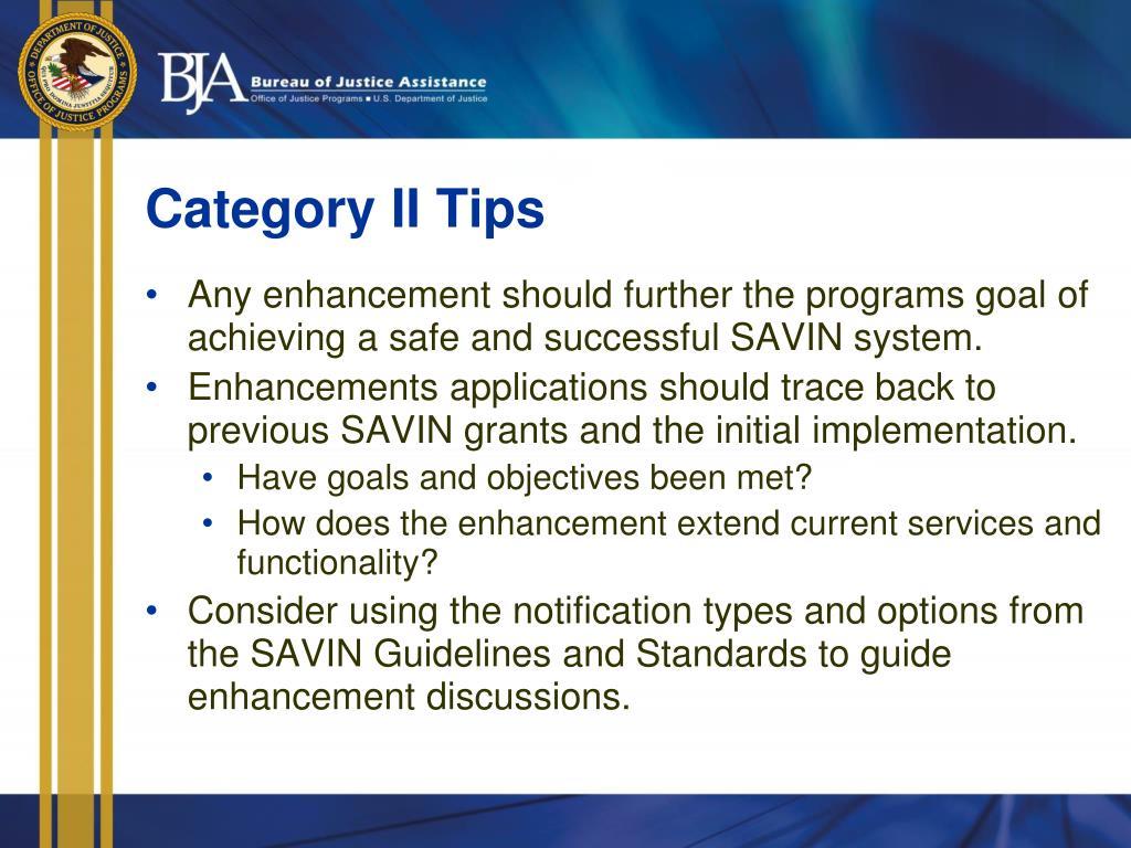 Category II Tips