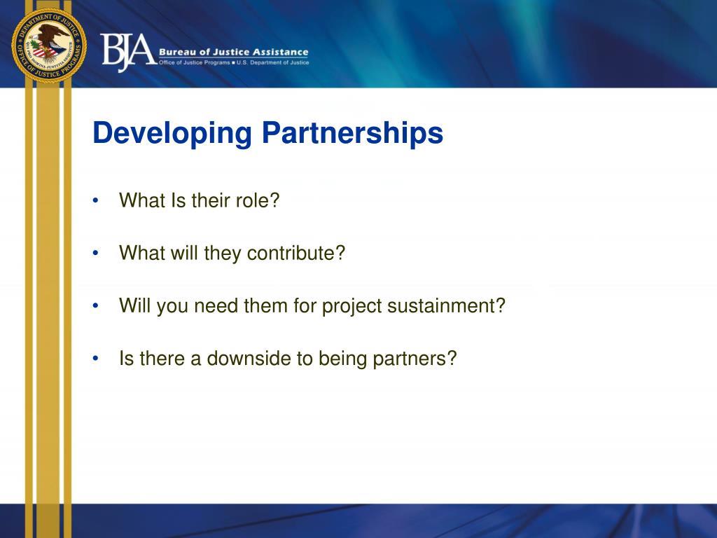 Developing Partnerships