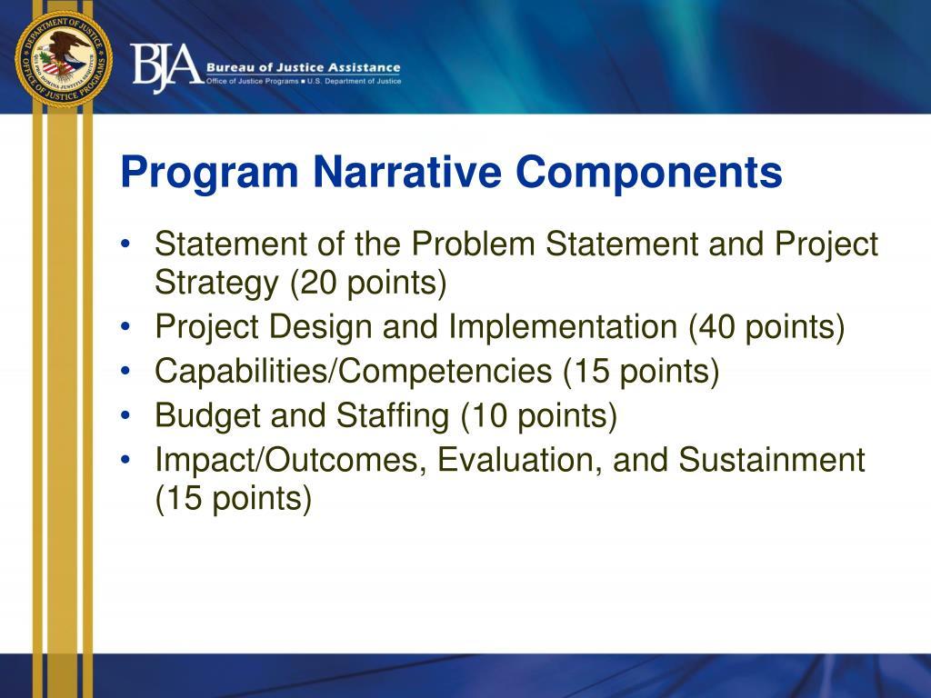 Program Narrative Components