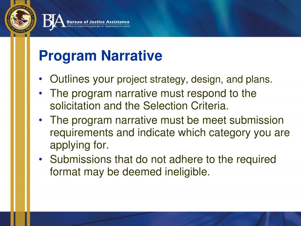 Program Narrative