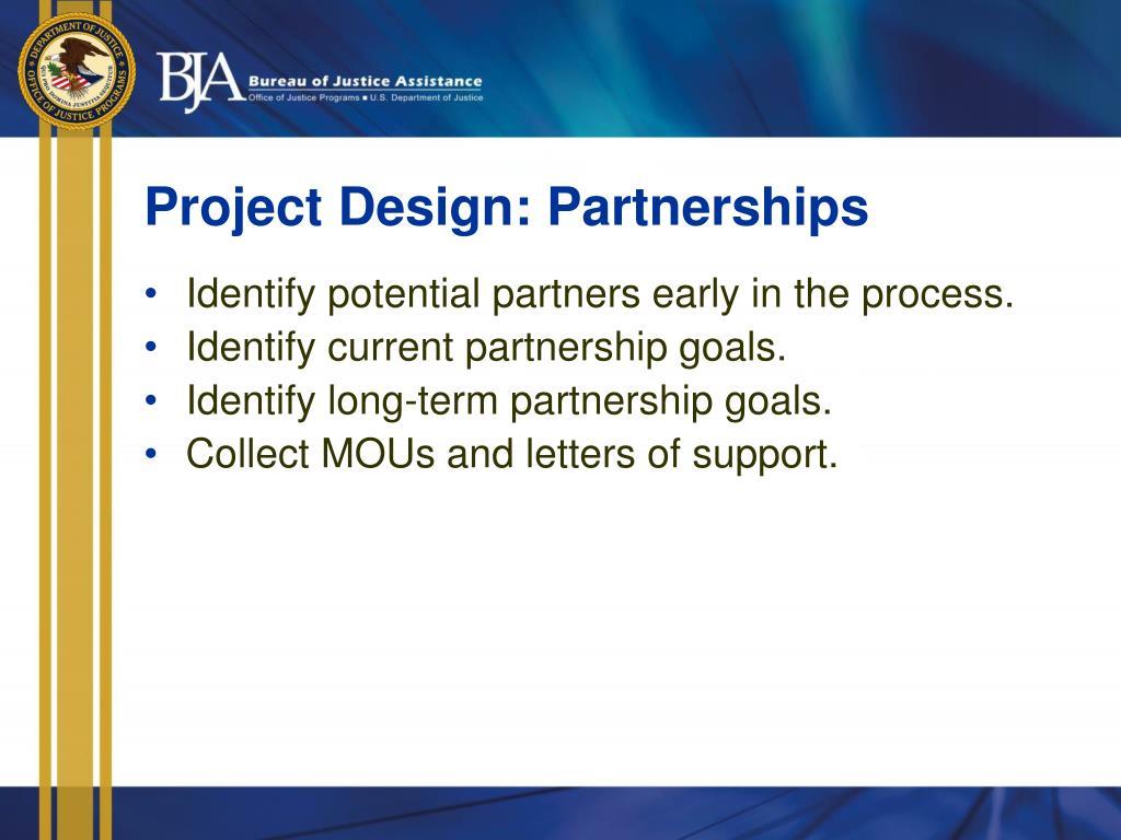 Project Design: Partnerships