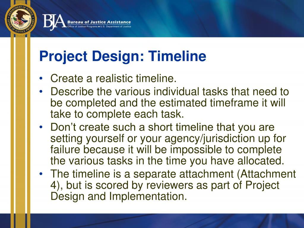 Project Design: Timeline