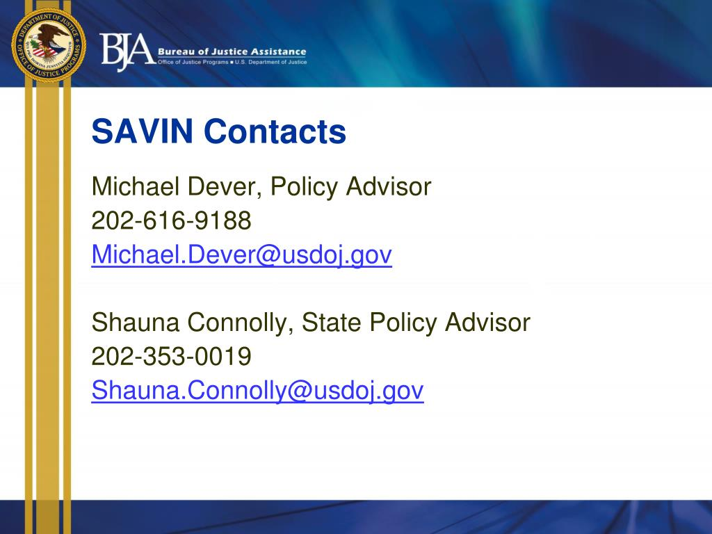 SAVIN Contacts