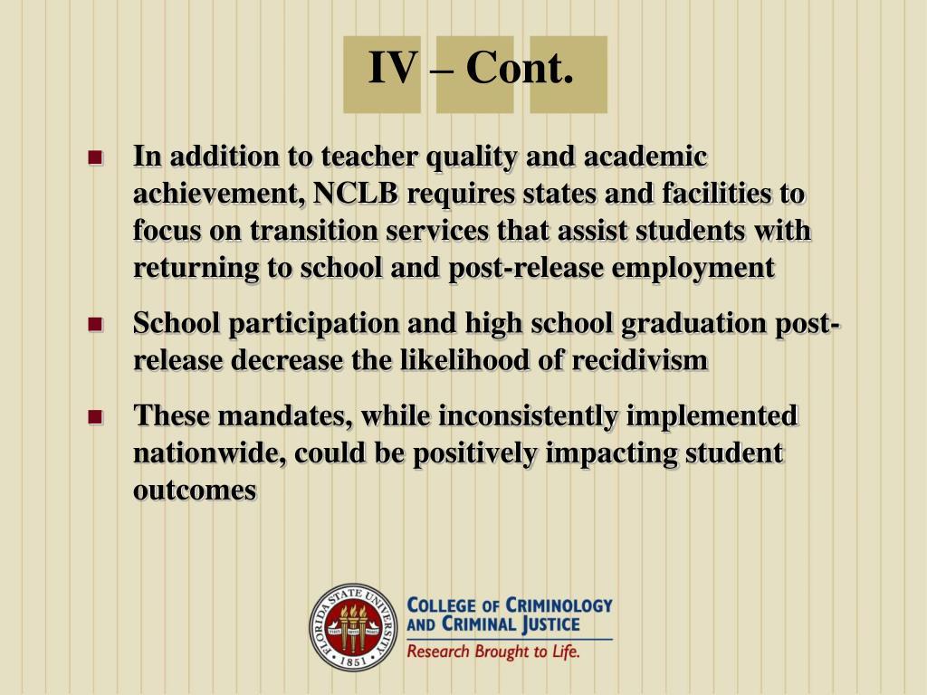 IV – Cont.