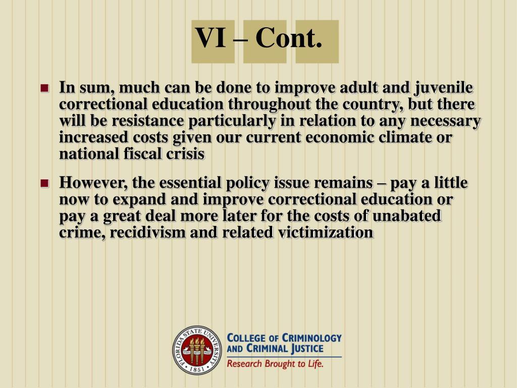 VI – Cont.