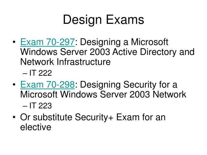 Design Exams