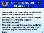 apprehension searches