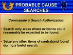 probable cause searches11