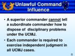 unlawful command influence