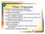 phase i preparation