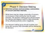 phase ii decision making1