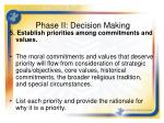 phase ii decision making3