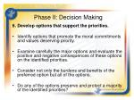 phase ii decision making4