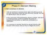 phase ii decision making6