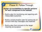 phase iii follow through