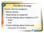 the moral ecology1