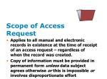 scope of access request