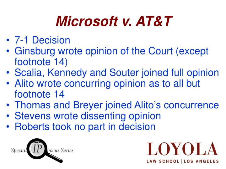 Microsoft v at t1